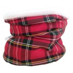 Braga cuello niño niña escoces rojo