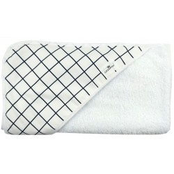 Toalla capa de baño black and white