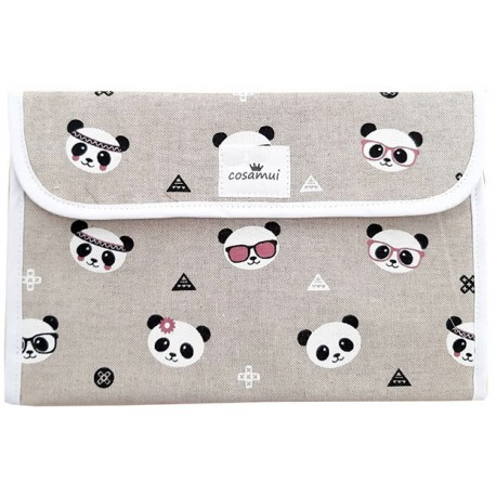 Portadocumentos bebé oso panda glass
