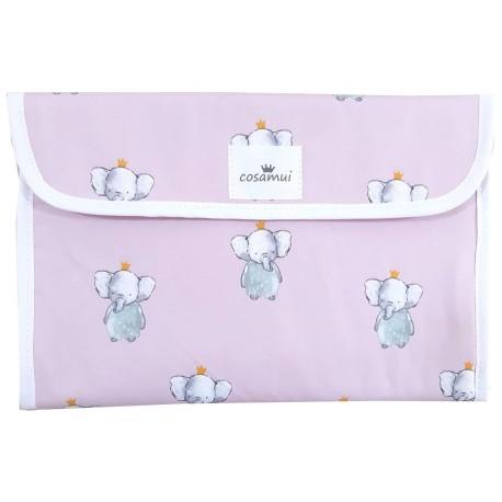 Portadocumentos bebé elefante rosa