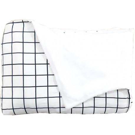 manta para bebé black and white