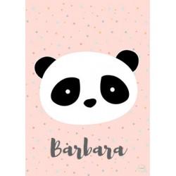 Laminas decorativas panda rosa