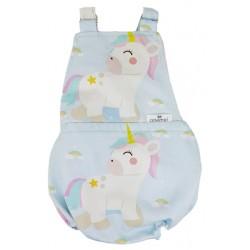 Peto bebé espalda abierta rainbow unicorn