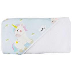 Toalla capa de baño bebé unicorn rainbow