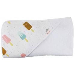 Toalla capa de baño bebé icecream