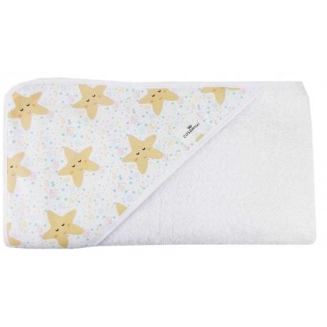 Toalla capa de baño bebé estrellas de mar