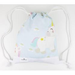 Bolsa Merienda Bebé y Adulto unicorn rainbow