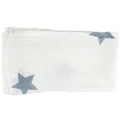 Muselina para bebé estrella azul