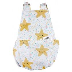 Peto bebé espalda abierta estrellas mar