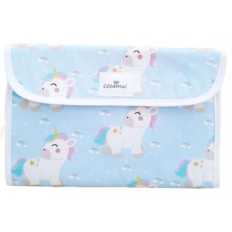 Portadocumentos bebé impermeable rainbow unicorn