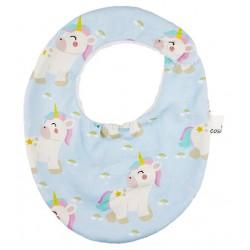 Babero bebe algodón rainbow unicorn