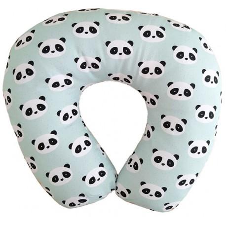 Cojín de lactancia panda mint