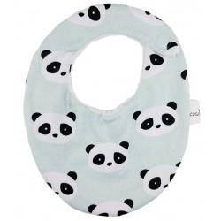 Babero para bebé algodon panda mint