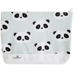 Neceser impermeable oso panda verde mint
