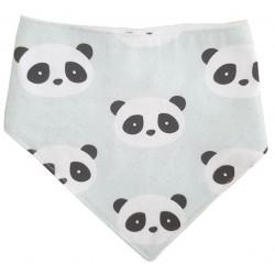 Bandana para bebé algodón panda mint