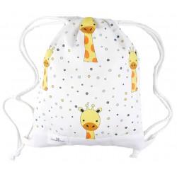 bolsa o mochila merienda infantil o adulto jirafa