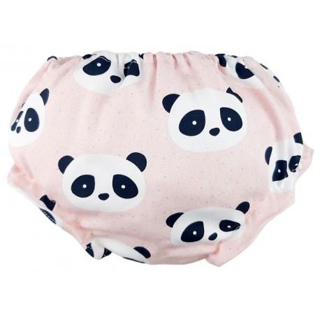 Braguita cubrepañal bebé new panda rosa