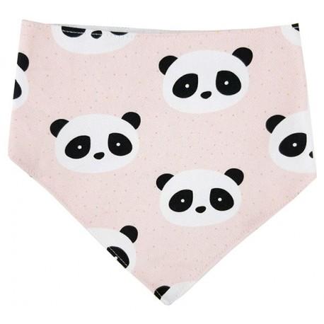 Bandana para bebé algodón new panda rosa