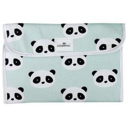 Portadocumentos bebé impermeable panda mint