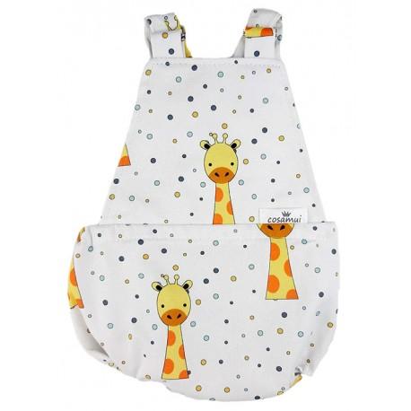 Peto bebé niño espalda abierta jirafa