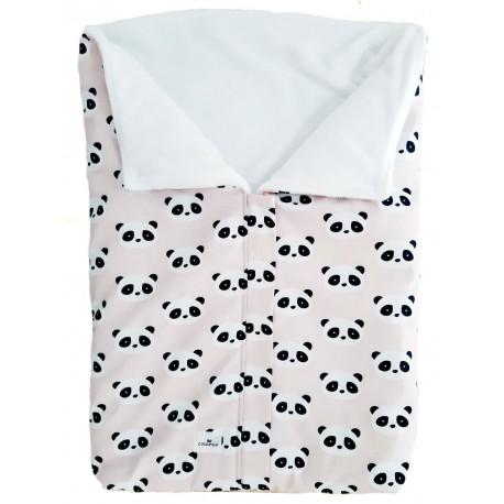 Arrullo o saco dormir capazo new panda rosa