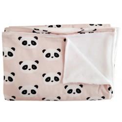 manta para recien nacido panda rosa