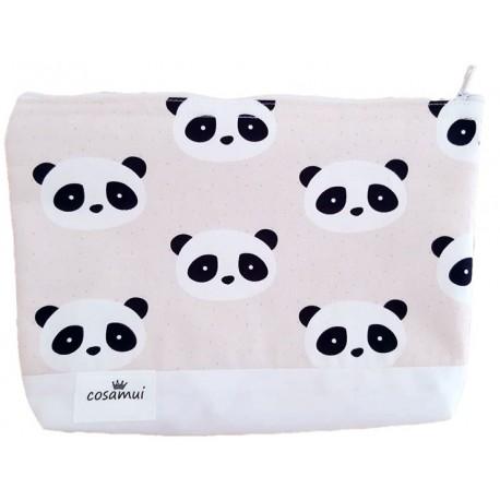 Neceser impermeable new panda rosa