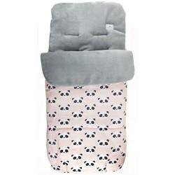 Saco universal silla paseo bebe new panda rosa