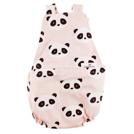 Peto bebé niño espalda abierta new panda rosa