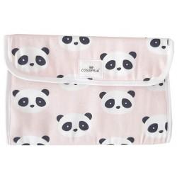 Portadocumentos bebé impermeable panda rosa
