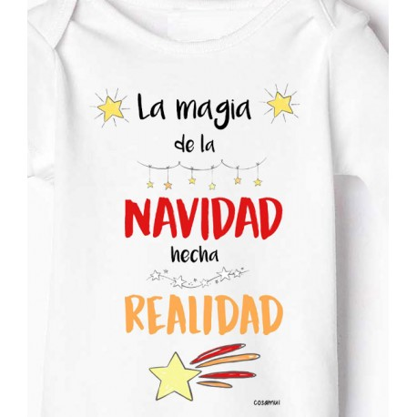 Body bebe niño y niña la magia de la navidad