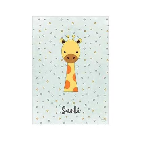 Laminas personalizada bebe jirafa