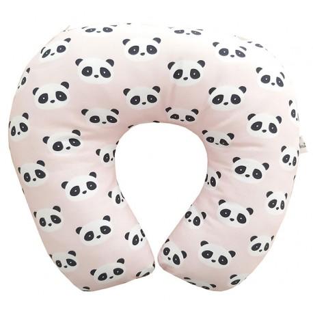 Cojín de lactancia panda rosa