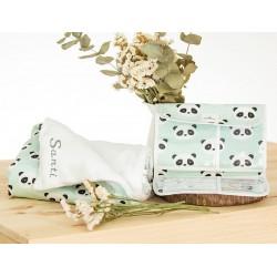 manta bordada y portadocumentos para bebé