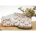 pack new panda rosa arrullo nececer y cambiador bordado