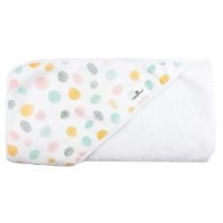 Toalla capa de baño recien nacido puntos rasgados