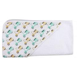 Toalla capa de baño recien nacido vespas