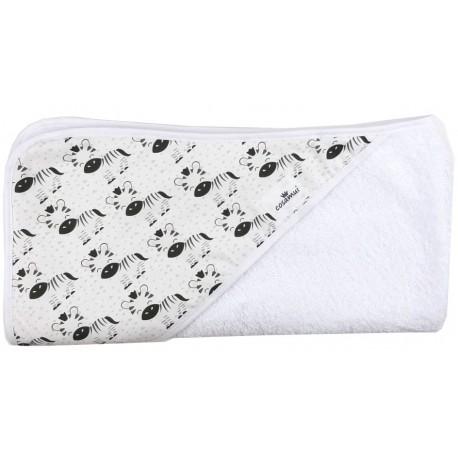 Toalla capa de baño recien nacido cebra
