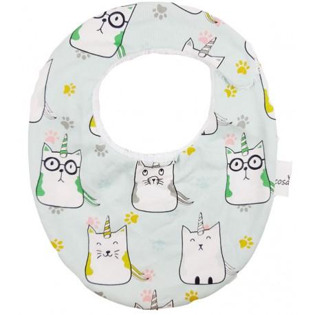 Babero para bebé algodon cat unicorn
