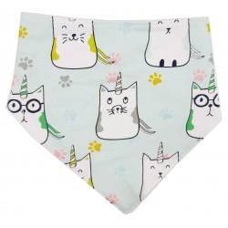 Bandana para bebé algodón cat unicorn