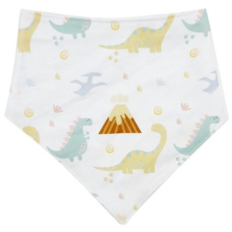 Bandana para bebé algodón dino