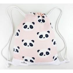 bolsa o mochila infantil o adulto colegio panda rosa