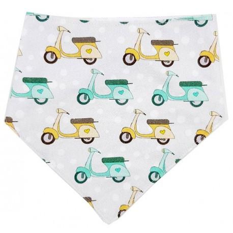 Bandana para bebé algodón vespas