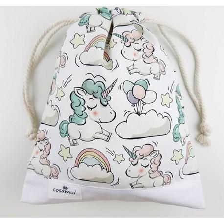 bolsa merienda colegio niño niña unicorni