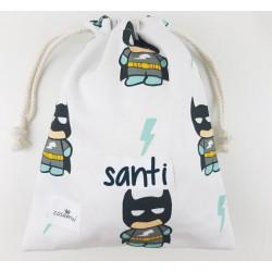 bolsa merienda personalizada niño niña cos hero