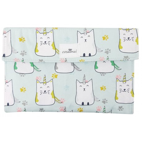 Portadocumentos bebé impermeable cat unicorn