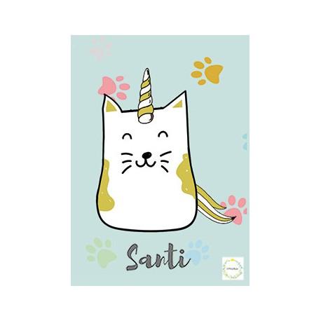 Laminas personalizada bebe cat unicorn