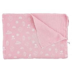 Muselina para bebé rosa