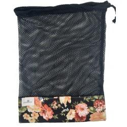Bolsa de rejilla black flower