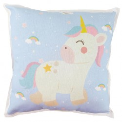Cojin decoración rainbow unicorn